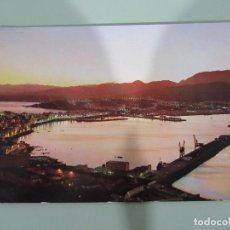 Postales: CEUTA - PANORÁMICA DEL PUERTO DE NOCHE - ESCRITA. Lote 184858660