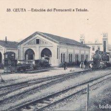 Postales: CEUTA - ESTACION DEL FERROCARRIL A TETUAN. Lote 186100411
