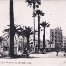 Postales: CEUTA - EL PASEO DE SAN SEBASTIAN. Lote 186101741