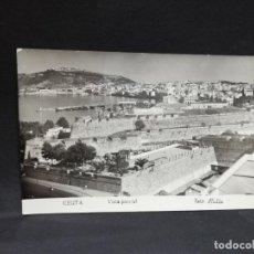 Postales: TARJETA POSTAL DE CEUTA. VISTA PARCIAL. FOTO RUBIO.. Lote 187296268