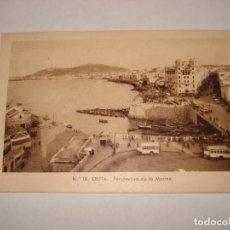 Postales: Nº 18 CEUTA PERSPECTIVA DE LA MARINA MATASELLOS CEUTA. Lote 191334221