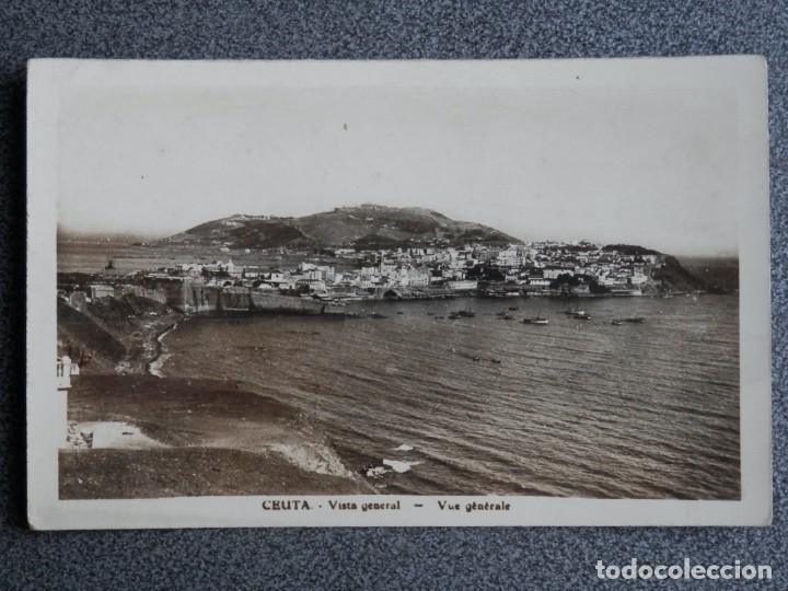 CEUTA VISTA GENERAL RARA POSTAL FOTOGRÁFICA ANTIGUA (Postales - España - Ceuta Antigua (hasta 1939))