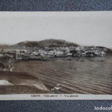 Postales: CEUTA VISTA GENERAL RARA POSTAL FOTOGRÁFICA ANTIGUA. Lote 193037758