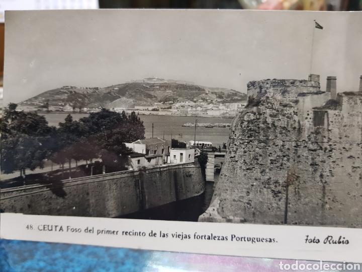 ANTIGUA POSTAL CEUTA FOSO FORTALEZAS PORTUGUESAS FOTO RUBIO (Postales - España - Ceuta Antigua (hasta 1939))
