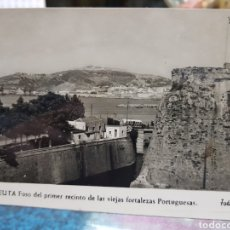 Postales: ANTIGUA POSTAL CEUTA FOSO FORTALEZAS PORTUGUESAS FOTO RUBIO. Lote 193632056