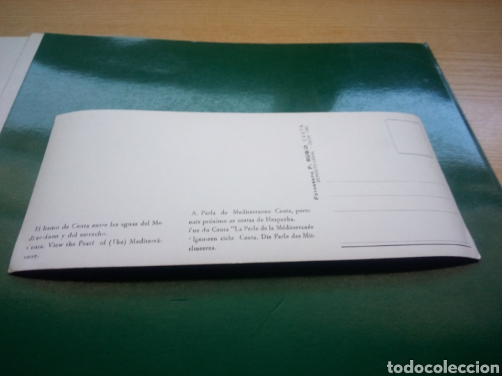 Postales: Antigua y muy rara postal de Ceuta apaisada. El Istmo de Ceuta. Fotografía F. Rubio de Ceuta. 1961 - Foto 2 - 194199898