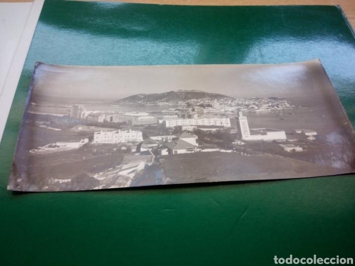 ANTIGUA Y MUY RARA POSTAL DE CEUTA APAISADA. EL ISTMO DE CEUTA. FOTOGRAFÍA F. RUBIO DE CEUTA. 1961 (Postales - España - Ceuta Moderna (desde 1940))
