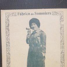 Postales: CROMO FABRICA DE SOMMIERS. Lote 194245538