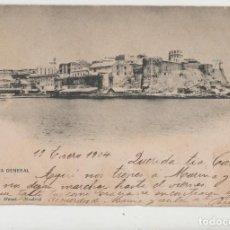 Postales: LOTE V-POSTAL MELILLA FECHADA 1904. Lote 194769092