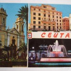 Postales: POSTAL CEUTA - CATEDRAL - CORREOS - FUENTE LUMINOSA - 1965 - . Lote 194983113