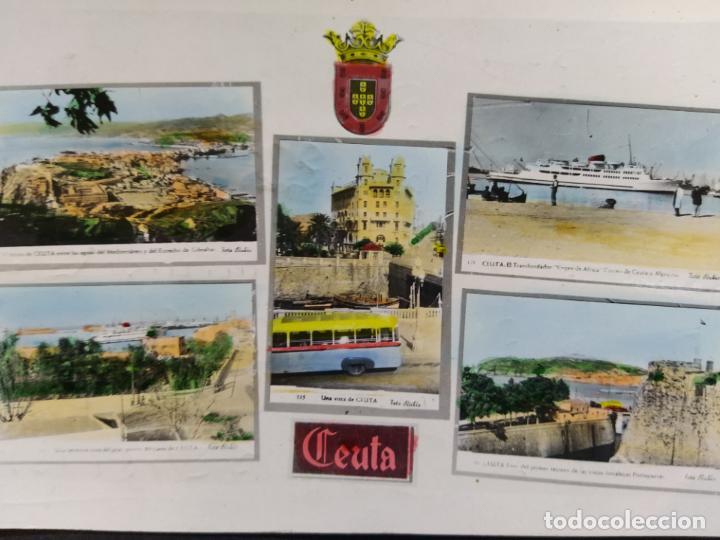 Postales: CEUTA-VARIAS VISTAS-AUTOBUS-BARCO-FOTO COLOR CASA RUBIO-POSTAL FOTOGRAFICA ANTIGUA-(68.606) - Foto 2 - 196525772