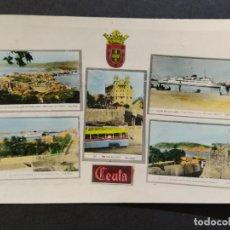 Postales: CEUTA-VARIAS VISTAS-AUTOBUS-BARCO-FOTO COLOR CASA RUBIO-POSTAL FOTOGRAFICA ANTIGUA-(68.606). Lote 196525772