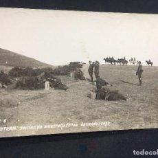 Postales: POSTAL 6 TETUAN SECCION AMETRALLADORAS HACIENDO FUEGO 1916 CAMPAÑA AFRICA INSCRITA NO CIRCULADA. Lote 196819111