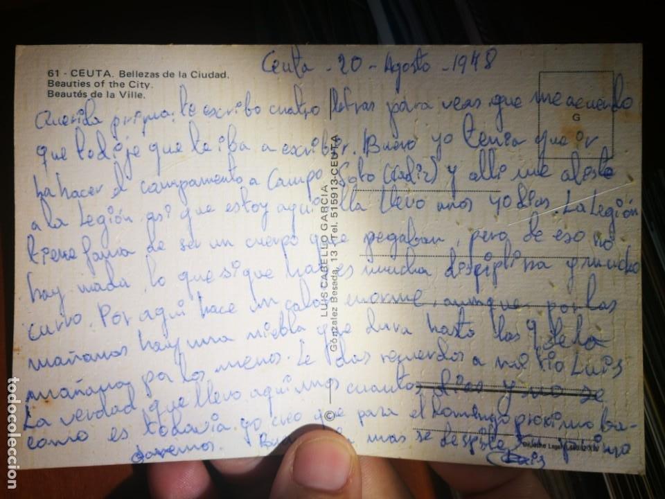 Postales: Postal Ceuta Bellezas de la Ciudad N 61 LUIS CABELLO GARCÍA 1978 escrita - Foto 2 - 198109472