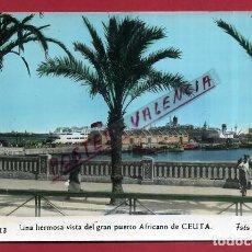 Postales: POSTAL CEUTA VISTA DEL PUERTO AFRICANO , ORIGINAL P89191. Lote 198127277