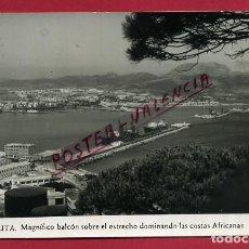 Postales: POSTAL CEUTA MAGNIFICO BALCON SOBRE EL ESTRECHO DOMINANDO LAS COSTAS AFRICANAS , ORIGINAL P89193. Lote 198127668