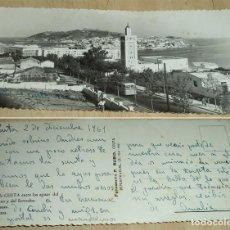 Cartes Postales: EL ISTMO DE CEUTA VISTA PANORÁMICA POSTAL FOTOGRÁFICA F. RUBIO 1961 MANUSCRITA APAISADA. Lote 198761802