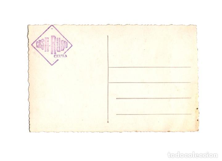 Postales: CEUTA.- VISTA DEL PUERTO Y LLEGADA DEL VAPOR CORREO CIUDAD DE CEUTA. POSTAL FOTOGRÁFICA.FOTO RUBIO. - Foto 2 - 199458090