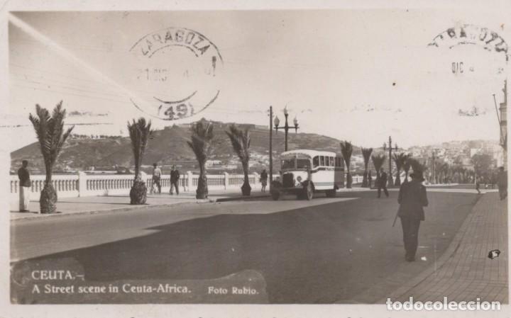 POSTAL CEUTA - CALLE - A STREET SCENE IN CEUTA - AFRICA - FOTO RUBIO (Postales - España - Ceuta Antigua (hasta 1939))