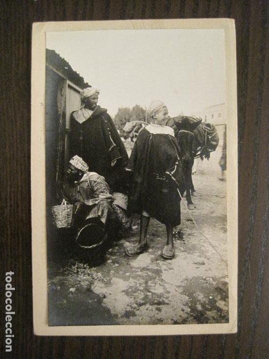 CEUTA-ARCHIVO ROISIN-FOTO PEGADA-FOTOGRAFICA-POSTAL PROTOTIPO ANTIGUA-(68.940) (Postales - España - Ceuta Antigua (hasta 1939))