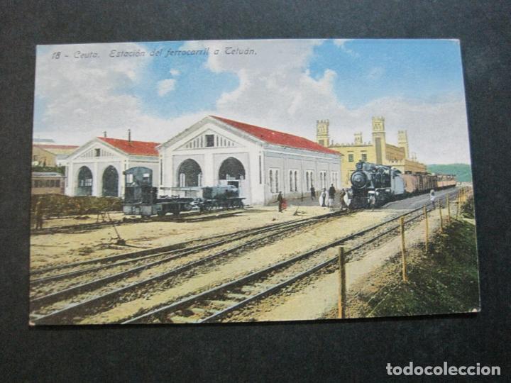 Postales: CEUTA-ESTACION DEL FERROCARRIL A TETUAN-POSTAL ANTIGUA-(70.869) - Foto 2 - 206268495