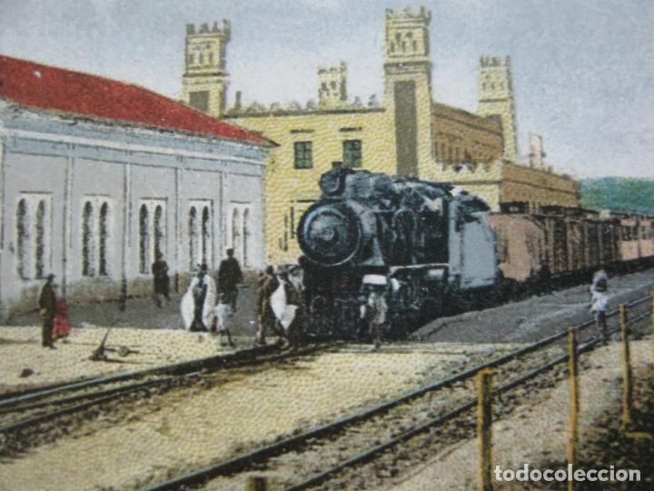 CEUTA-ESTACION DEL FERROCARRIL A TETUAN-POSTAL ANTIGUA-(70.869) (Postales - España - Ceuta Antigua (hasta 1939))