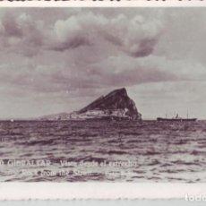 Postales: GIBRALTAR VISTA DESDE EL ESTRECHO - POSTAL - FOTO RUBIO CEUTA - AÑOS 50. Lote 206538752