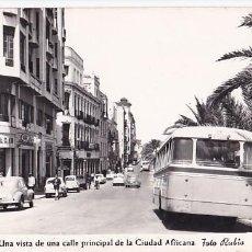 Postales: CEUTA CALLE PRINCIPAL DE LA CIUDAD AFRICANA. ED. FOTO RUBIO Nº 37. SIN CIRCULAR. Lote 207209768
