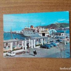 Postales: POSTAL DEL TRANSBORDADOR DE CEUTA EN EL MUELLE DE ESPAÑA - AÑO 1966 -CIRCULADA CON SELLO. Lote 213912736