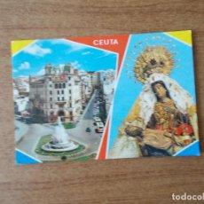 Postales: CEUTA - PLAZA GENERAL GALERA Y NTRA. SRA. DE AFRICA - 1.969 - CIRCULADA. Lote 214049088