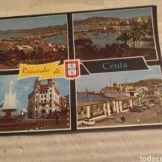 Postales: POSTAL RECUERDO DE CEUTA 1965. ESCRITA. Lote 214147695