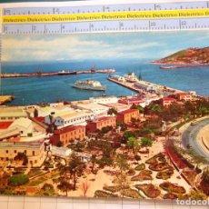 Cartes Postales: POSTAL DE CEUTA AÑOS 60. PUERTO VISTA PARCIAL. PUBLICIDAD BAZAR EL TREBOL. FERIA SEVILLA 1970. 2405. Lote 215674865
