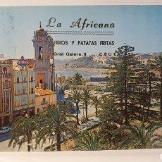 Postais: 14 CEUTA/LA AFRICANA/ CHURROS Y PATATAS FRITAS/ POSTAL/ CIRCULADA / (REF.D.101). Lote 218169761