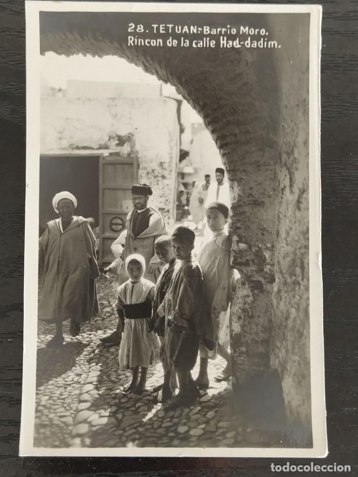 TETUAN BARRIO MORO RINCON DE LA CALLE HAD DADIM - FOTOGRAFICA - PAPELERIA LA ESPAÑOLA CEUTA (Postales - España - Ceuta Antigua (hasta 1939))