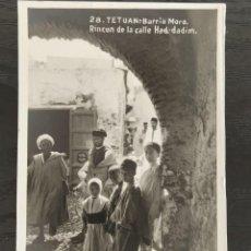 Postales: TETUAN BARRIO MORO RINCON DE LA CALLE HAD DADIM - FOTOGRAFICA - PAPELERIA LA ESPAÑOLA CEUTA. Lote 218800012