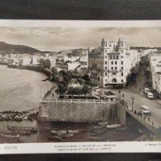 Postales: TARJETA POSTAL FOTOGRÁFICA DE CEUTA 14. PUENTE ALMINA Y CALLE DE LA LIBERTAD. L. ROISIN.. Lote 218801507
