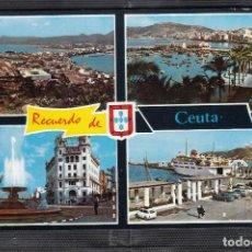 Postales: RECUERDO DE CEUTA. DIVERSAS VISTAS. Lote 220885271
