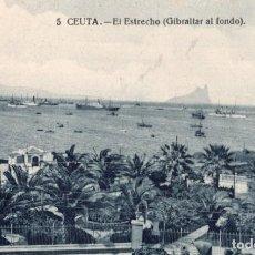 Postales: CEUTA. 5 EL ESTRECHO. GIBRALTAR AL FONDO. Lote 221502080