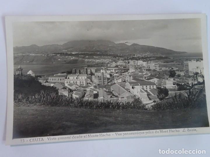 ANTIGUA POSTAL FOTOGRÁFICA, CEUTA, VISTA GENERAL, VER FOTOS (Postales - España - Ceuta Moderna (desde 1940))