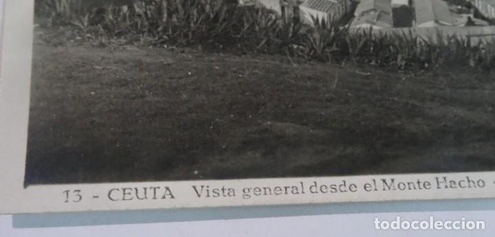 Postales: ANTIGUA POSTAL FOTOGRÁFICA, CEUTA, VISTA GENERAL, VER FOTOS - Foto 2 - 222098216