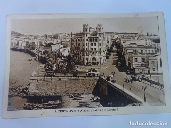 ANTIGUA POSTAL FOTOGRÁFICA, CEUTA, VISTA PARCIAL, L.ROISIN, VER FOTOS (Postales - España - Ceuta Moderna (desde 1940))