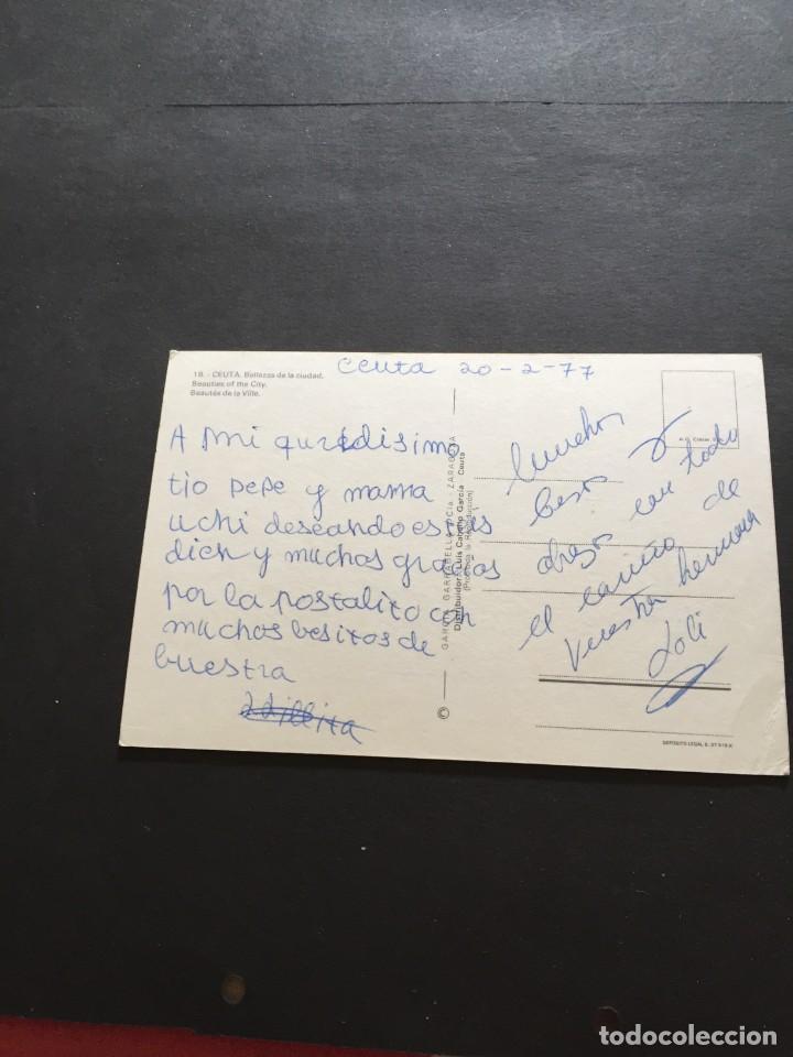 Postales: POSTAL DE CEUTA - BONITAS VISTAS - LA DE LA FOTO VER TODAS MIS FOTOS Y POSTALES - Foto 2 - 222533307