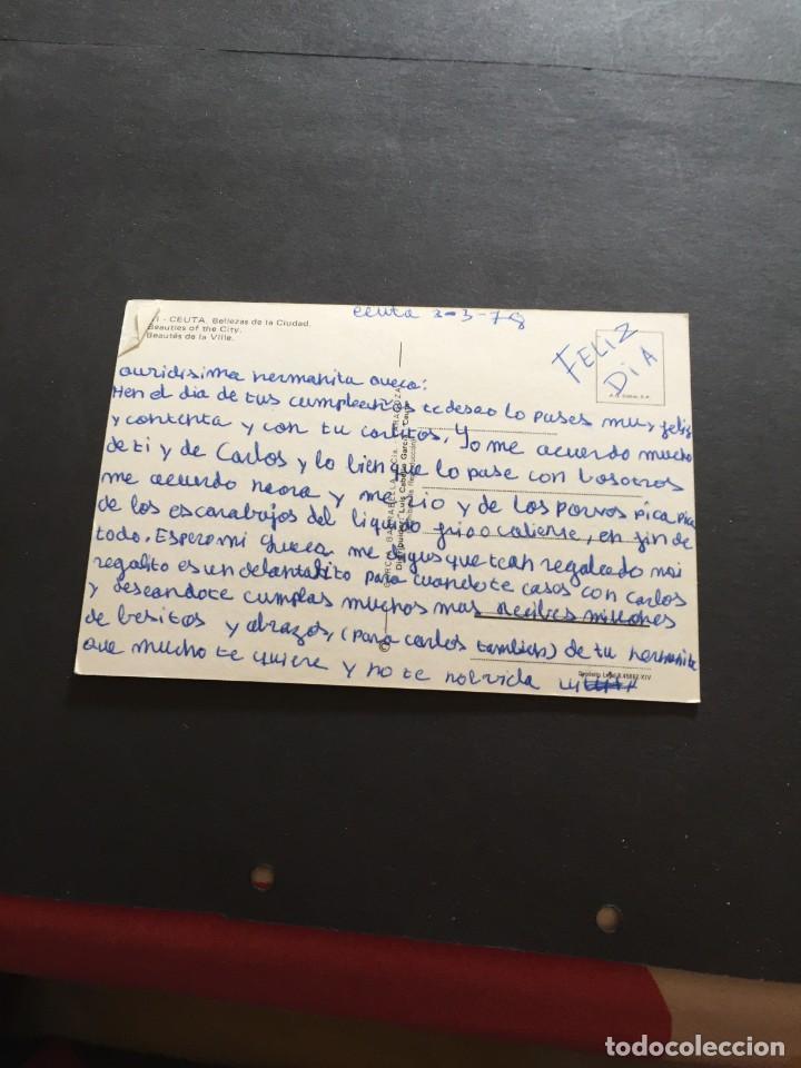 Postales: POSTAL DE CEUTA - BONITAS VISTAS - LA DE LA FOTO VER TODAS MIS FOTOS Y POSTALES - Foto 2 - 222533576