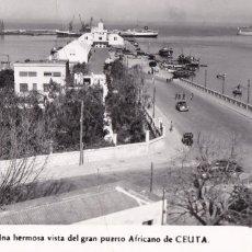 Postales: VISTA DEL GRAN PUERTO DE CEUTA. ED. FOTO RUBIO Nº 136. ESCRITA. Lote 222604432