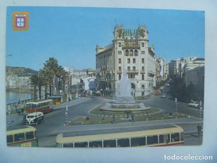 POSTAL DE CEUTA : PLAZA GENERAL GALERA . AÑOS 60. FERIA DE MUESTRAS DE SEVILLA 1970 - TOURAFRICA (Postales - España - Ceuta Moderna (desde 1940))