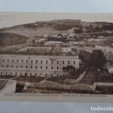 Postales: CEUTA. CUARTEL DE LAS HERAS Y MONTE HACHO. FOTO ROISIN. SIN USO. Lote 223949980