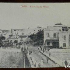 Postales: POSTAL DE CEUTA. PUENTE DE LA ALMINA. EDICION BUTRON, SIN CIRCULAR, TAL COMO SE VE EN LAS FOTOS, AL. Lote 227827670