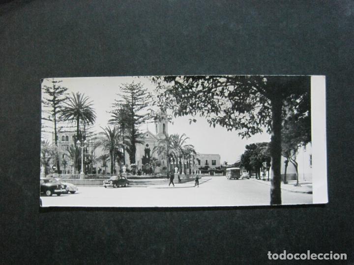 CEUTA-VISTA DE LA PLAZA DE AFRICA Y LA CATEDRAL-FOTO RUBIO-POSTAL ANTIGUA-(K-1273) (Postales - España - Ceuta Antigua (hasta 1939))