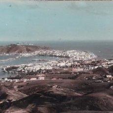 Cartes Postales: CEUTA, VISTA GENERAL, POSTAL PANORAMICA 18 X 8 CM. ED. FOTO GARCIA CORTES. BYN COLOREADA. CIRCULADA. Lote 232875735