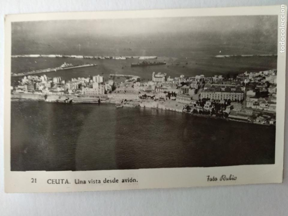 CEUTA UNA VISTA DESDE AVION. ED. FOTO RUBIO Nº 21. (Postales - España - Ceuta Moderna (desde 1940))